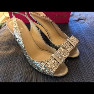 Lovely Kate Spade Glitter Heels with Bows.